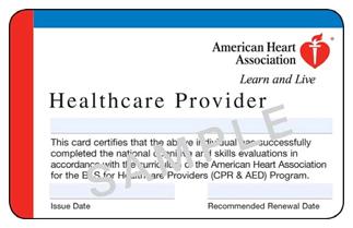American Heart Association BLS Lubbock CPR - American heart association cpr card template